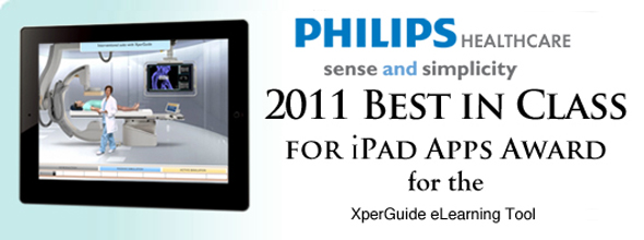 Philips Healthcare Best in Class for iPad Apps Award for the XperGuide eLearning Tool